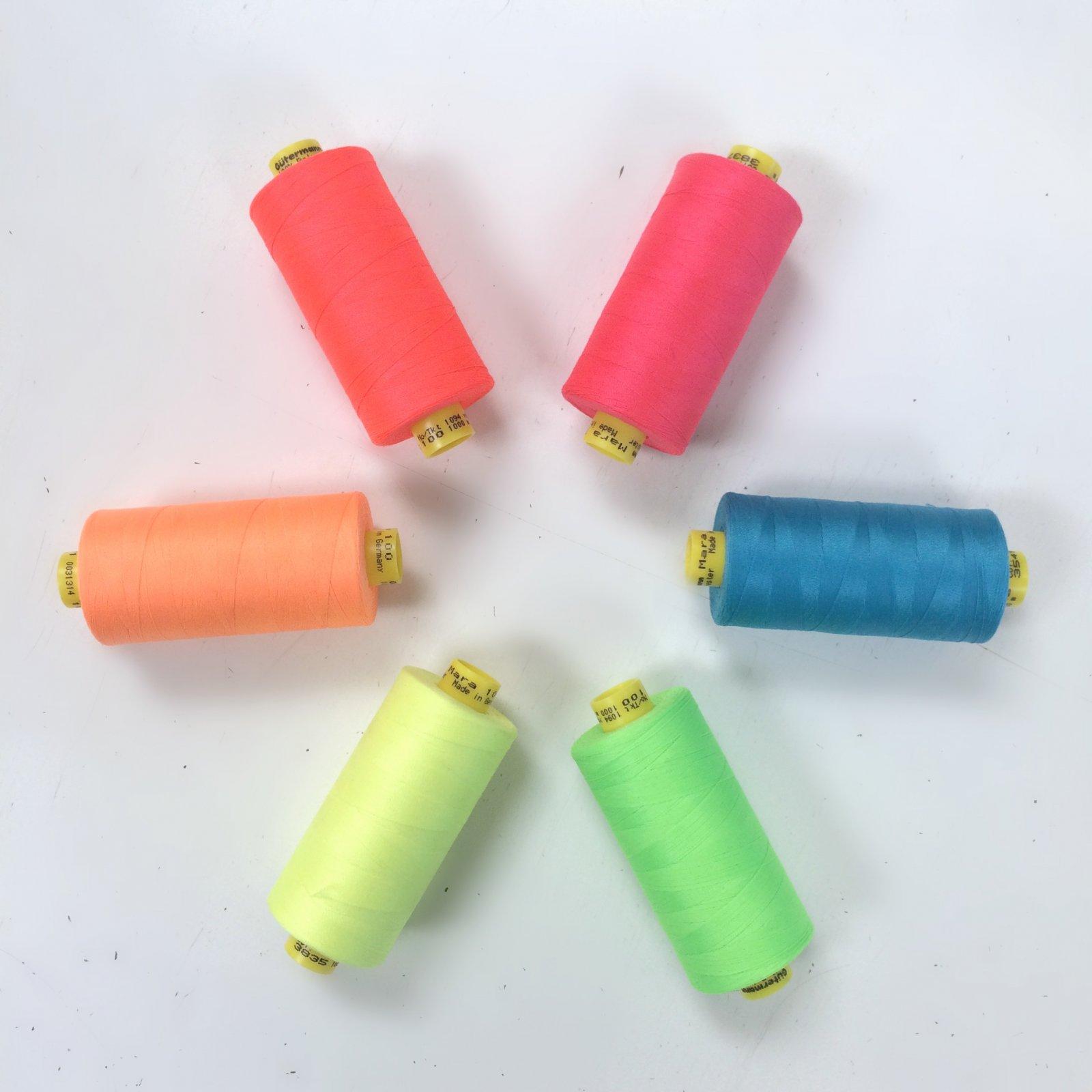 Gutermann Mara 100 Thread - Neon Colors 6 Pack