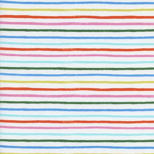 Amalfi - Cotton Lawn - Happy Stripes - Cream