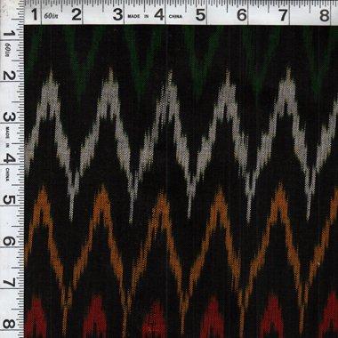 Flame Stitch Ikat - Black/Multi
