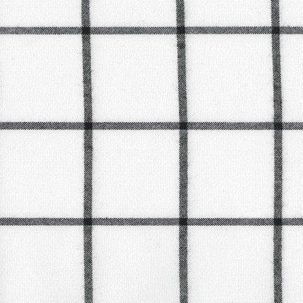 Brooklyn Plaid Flannel - Grid - White
