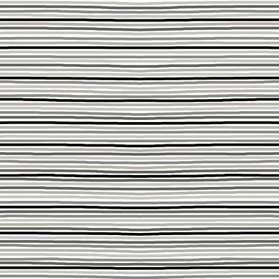 Cotton/Spandex Printed Jersey - Stripes - Grey
