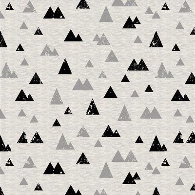 Cotton Sweatshirt Fleece - Triangles