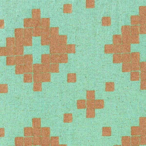 Tile by Alexia Marcelle Abegg - Aqua with Metallic Copper