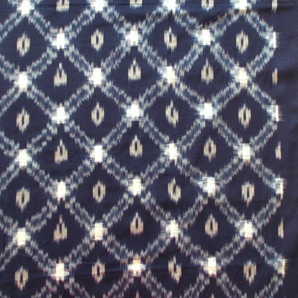 Xs and Dimonds Ikat - Navy