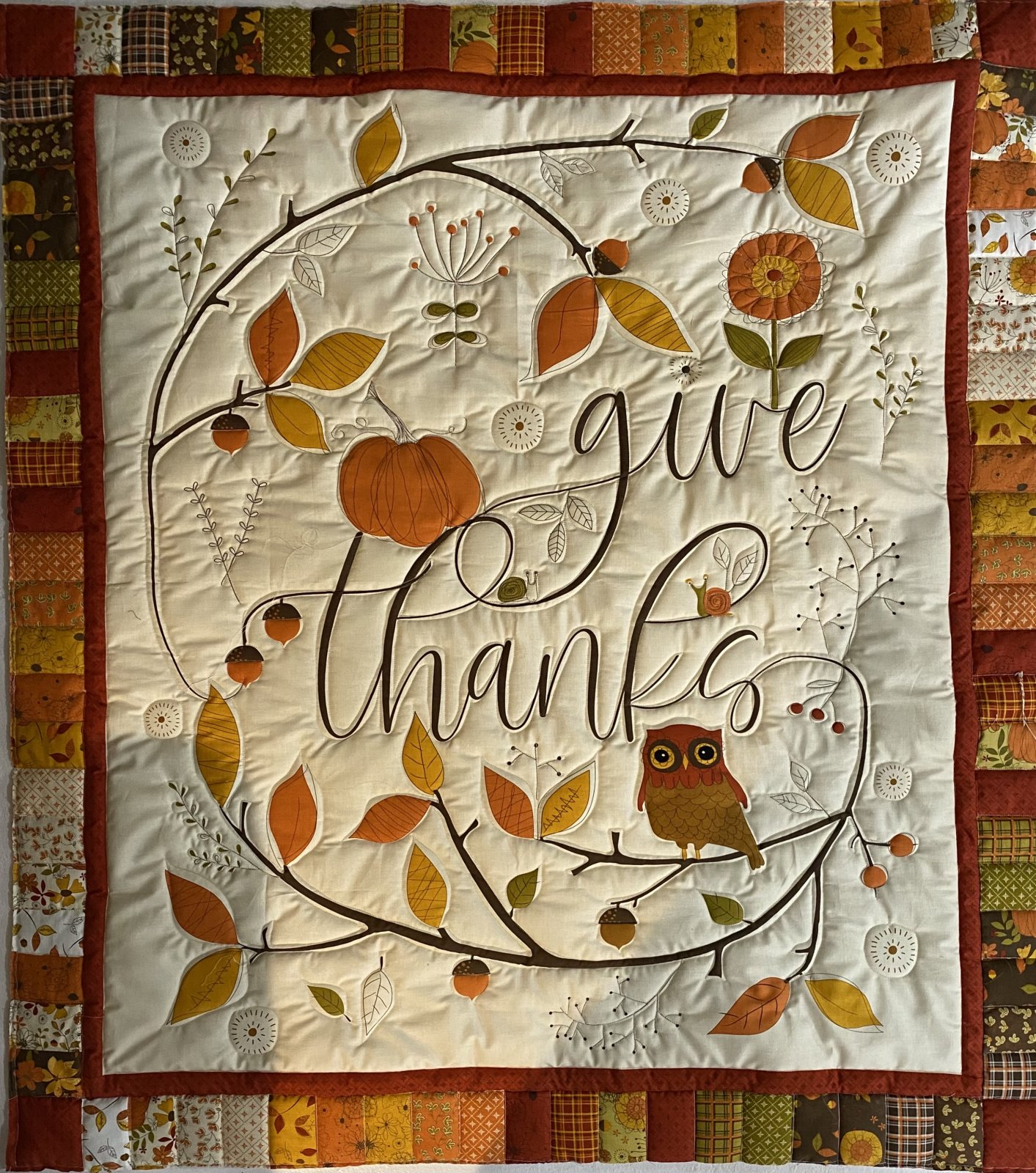 Give Thanks Wall Hanging Pattern