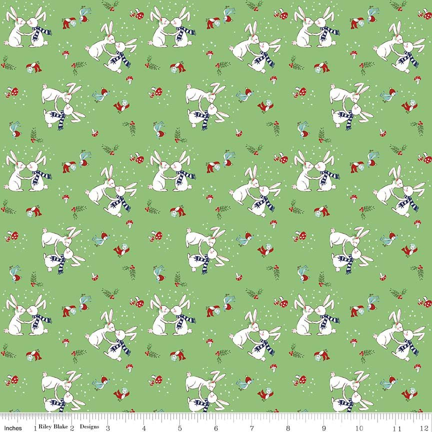 Pixie Noel Bunnies - Green
