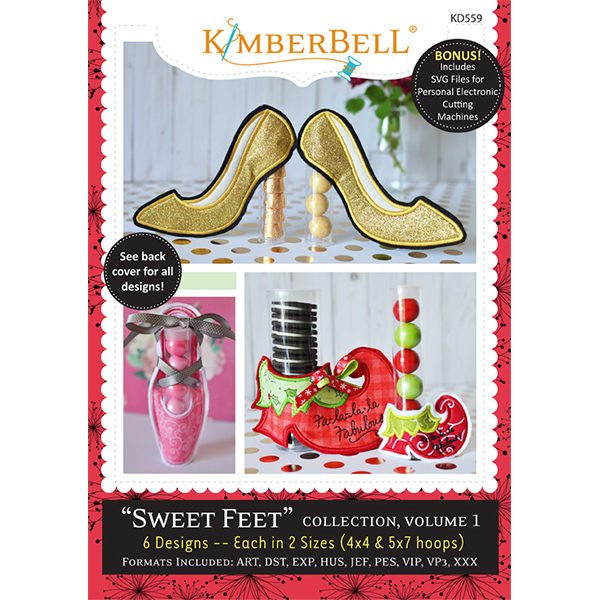 Sweet Feet Collection Volume 1 Embroidery CD