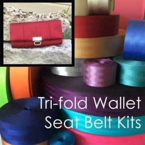 Seatbelt Trifold Wallet Kit