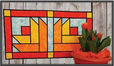 Stained Glass Tulip Table Runner Pattern
