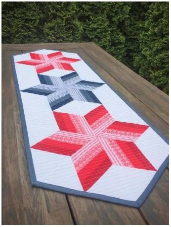 Twirl N Spin Table Runner Pattern