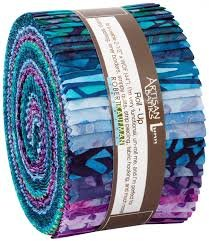 Robert Kaufman - Natural Formations Ocean - RU83740PCAB  - Jelly roll