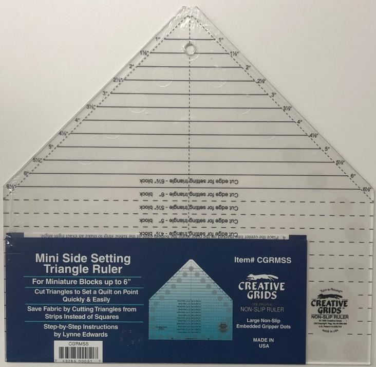 Creative Grids - Mini Side Setting Triangle Ruler