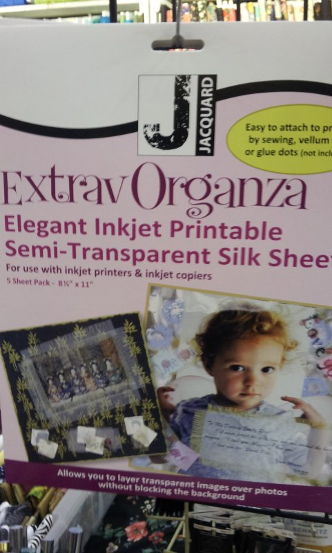 ExtravOrganza Inkjet Printable Semi-Transparent Silk Sheets - 8 1/2 x 11