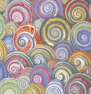 Spiral Shells - Grey