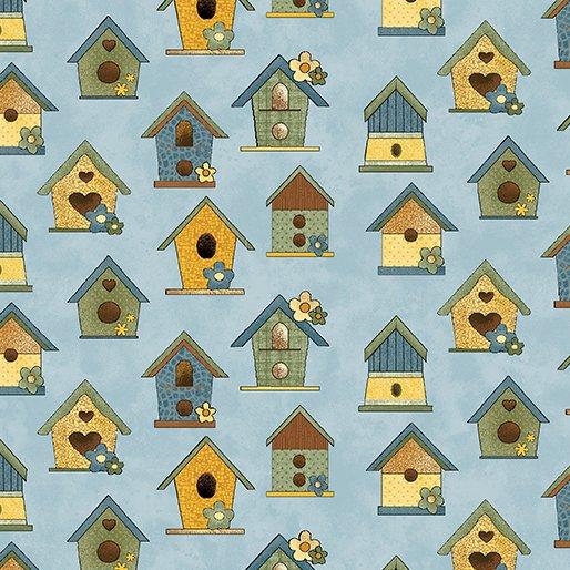 B-10071-50 Sunshine Garden Bird Houses Blue