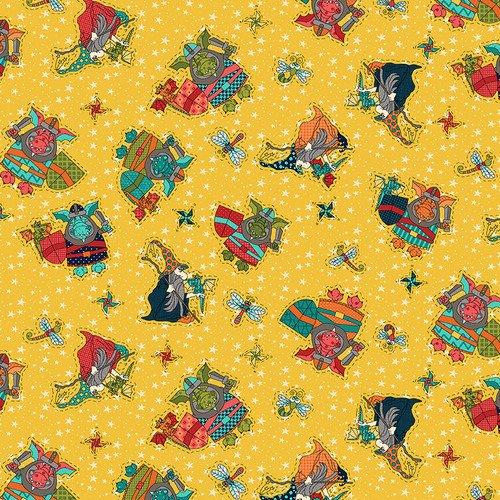 HG-Q-1851-33 Yellow Whirlygig Magic