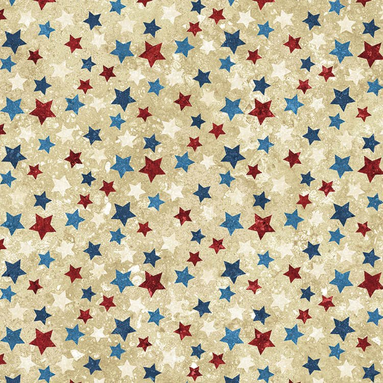 N-20159-30 Stonehenge Beige with multi stars