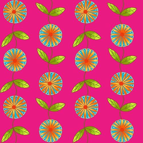 HG-Q2241-22 Fuchsia Petals Go Round