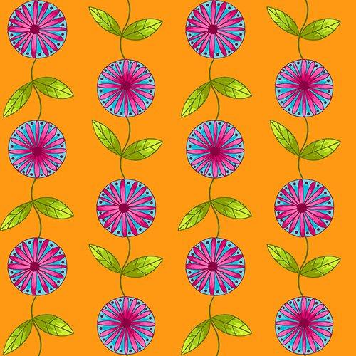 HG-Q2241-35 Orange Petals Go Round