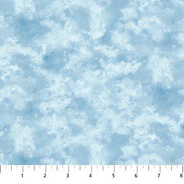 N-23470-42 Blue Christmas Wish Cloud Teture