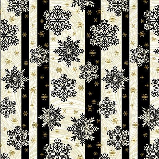 B-2656M-12 Black/Cream Snowflake Stripe AFS2