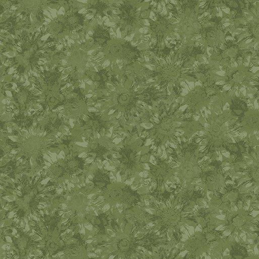 B-2774-44-Sunshine Garden Whispering Sunflower Dk Green