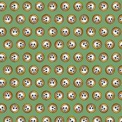 QT-27774-G Green Steampunk Halloween Skulls