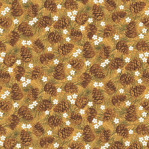 B-4653-33 Gold Winter Wonderland Pine Cones