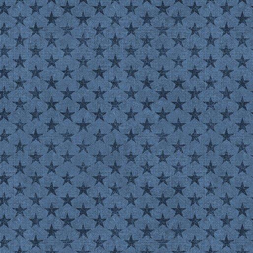 B-6336-55 Blue American Rustic Tonal Stars