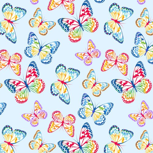 BQ-9413-11 Light Blue Emelia's Dream Butterflies