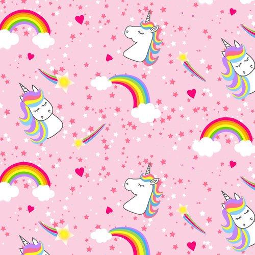 BQ-9419-22 Pink Emelia's Dream Unicorns and Rainbows