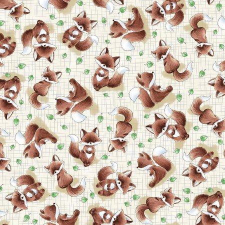 TT-Bunnies-C6722 Taupe Tossed Fox