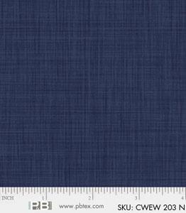 P&B-CWE-203N Color Weave Navy Wideback