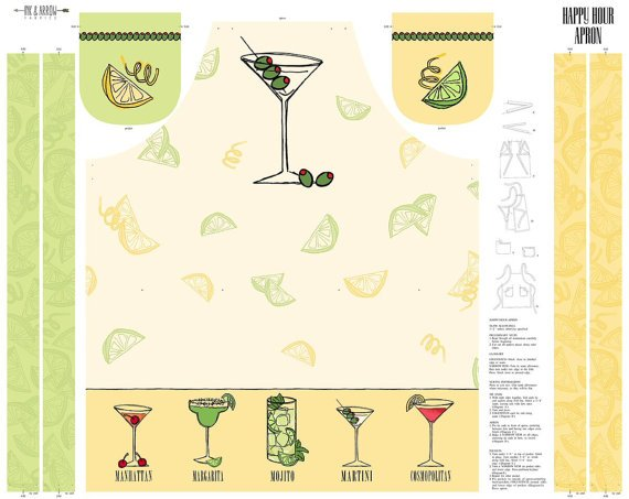 QT-1649-24398-E Happy Hour Apron Panel