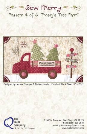 QC-MERRY104 Sew Merry Frosty's Tree Farm
