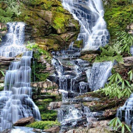 TT-C6855 Multi Waterfall Digital Print