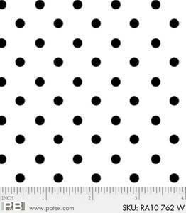 P&B-RA10-762W White on White Dots
