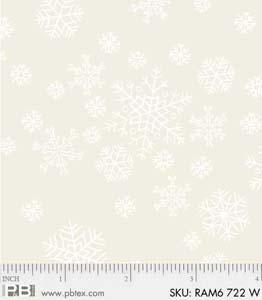 P&B-RAM600722W Snowflakes