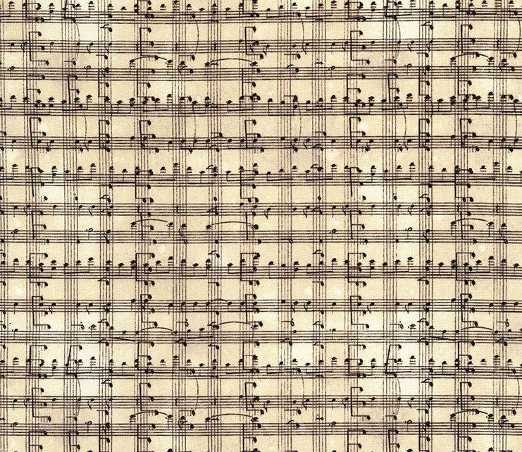 TT-ROW-C5935 Cream Music Notes