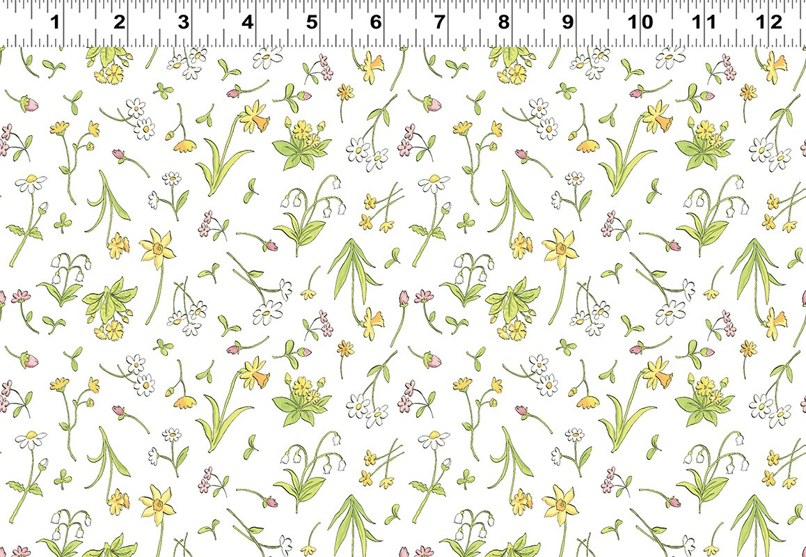 CW-Y2873-1 GHMILY When I'm Big Spring Flowers White
