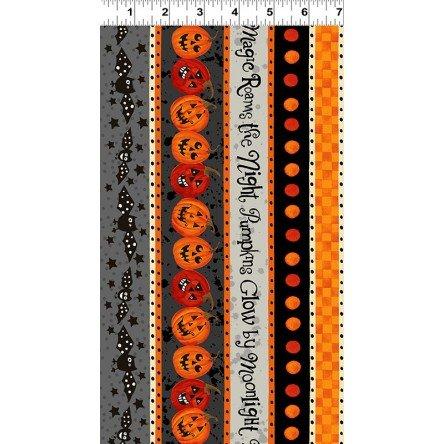 CW-Y2966-6 Gray Midnight Glow Pumpkin Stripe