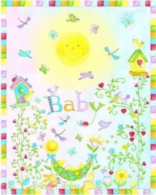 100235 - Garden Baby Panel