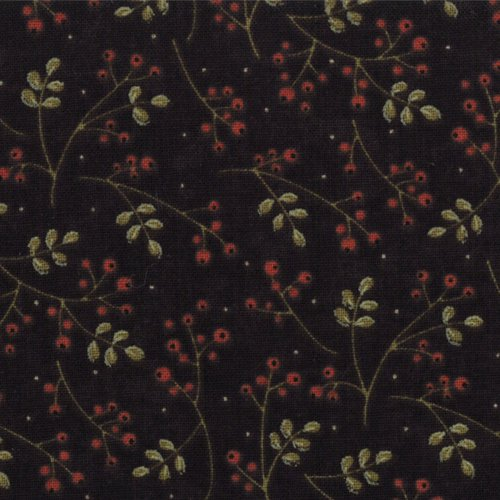 17666-11 Merry Medley Winterberries Ebony