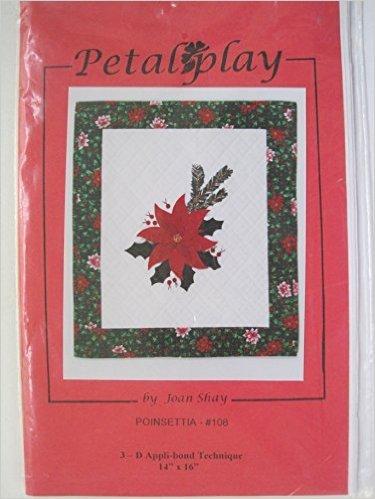 108 Petal Play Pattern Poinsettia - by Joan Shay