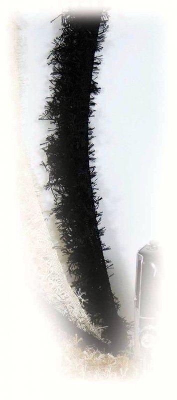 581H  Black Hairy Trim