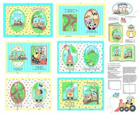15295-P1 - Bazooples Choo Choo Soft Book Panel