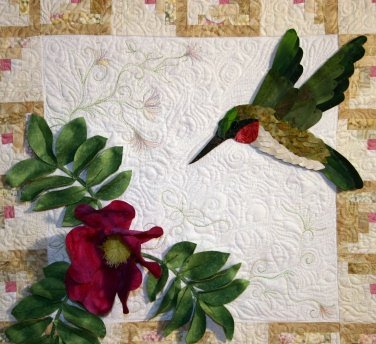 Hummingbird w/Beach Roses