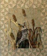 Great Horned Owl w/cattails