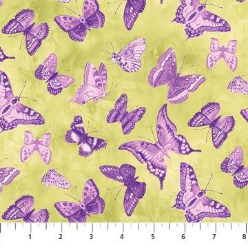 Northcott - Lilac Garden Purple Butterflies - 20523 85