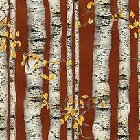 Nature's glory BRICK-BIRCH TREE STRIPE